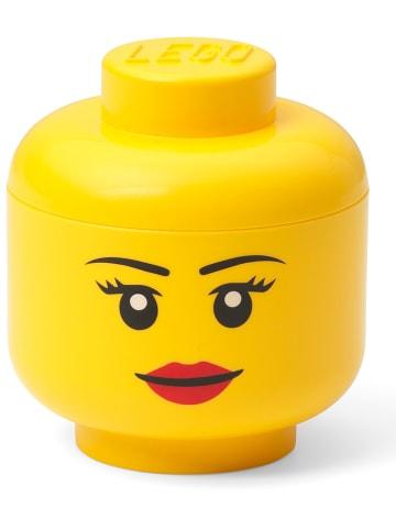 """LEGO Pojemnik """"Girl"""" w kolorze żółtym - wys. 11,5 x Ø 10,2 cm"""