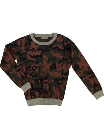 Geisha Sweter w kolorze oliwkowo-brązowym