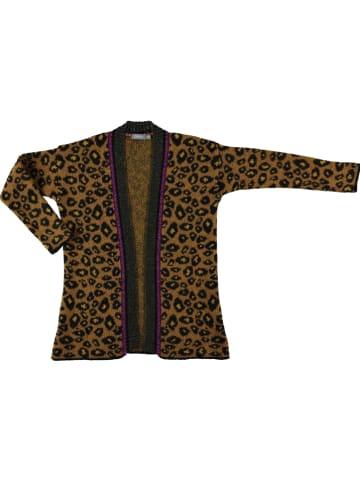 Geisha Vest mosterdgeel/zwart