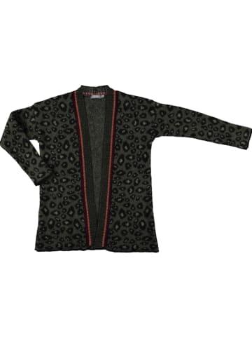Geisha Vest kaki/zwart