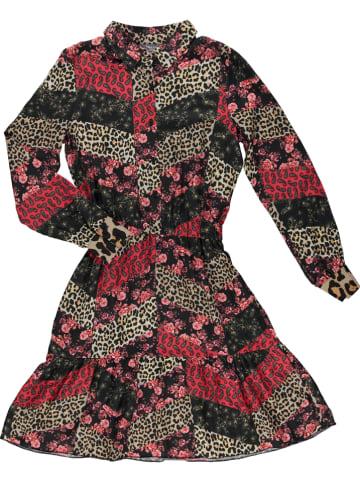 Geisha Kleid in Rot/ Schwarz