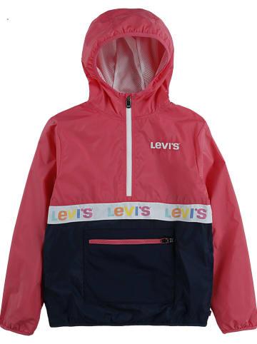 Levi's Kids Kurtka przeciwwiatrowa w kolorze różowo-granatowym