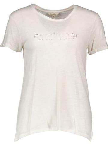 """Herrlicher Koszulka """"Kendall"""" w kolorze biało-złotym"""