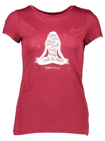 """Super.natural Koszulka """"Calm Down"""" w kolorze czerwonym"""