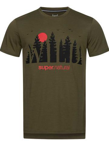 "Super.natural Trainingsshirt ""Wild And Free"" kaki"