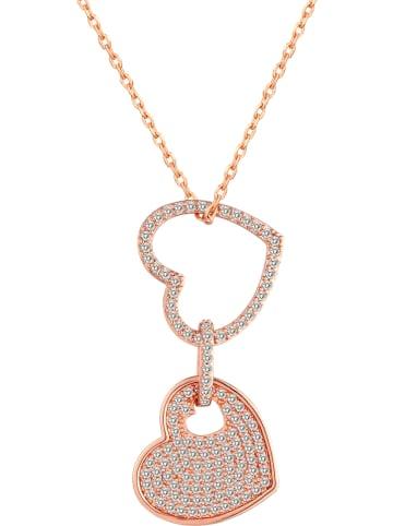 METROPOLITAN Pozłacany naszyjnik z kryształami Swarovski - dł. 40 cm