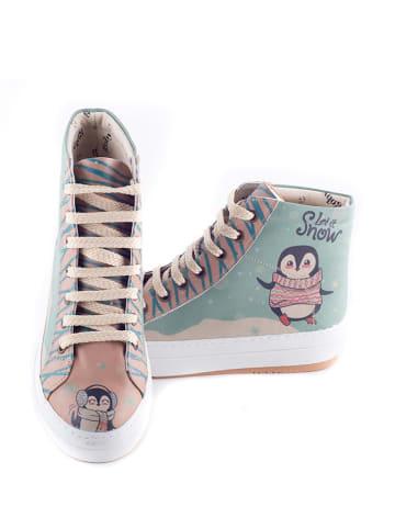Goby Sneakers lichtblauw/lichtroze