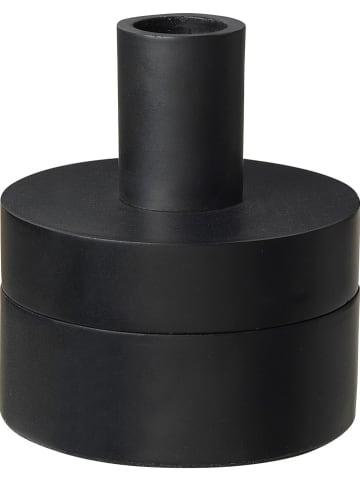 "Broste Copenhagen Kaarshouder ""Box"" zwart - (H)9,5 x Ø 8 cm"