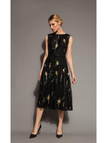 Deni Cler Sukienka w kolorze czarno-złotym
