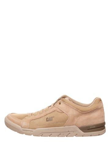 "CAT Leder-Sneakers ""Indent"" in Beige"