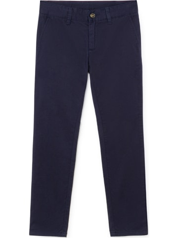 Hackett London Chinobroek - slim fit - donkerblauw