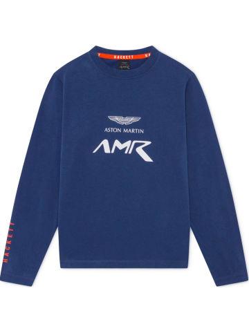 Hackett London Koszulka w kolorze niebieskim
