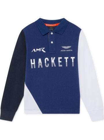 Hackett London Koszulka polo w kolorze niebiesko-biało-granatowym