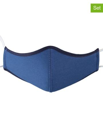 Kitz-pichler 3-delige set: mondkapjes voor kinderen blauw