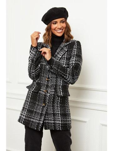 Le Comptoir du Manteau Płaszcz w kolorze czarno-białym