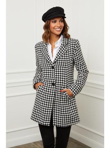 Le Comptoir du Manteau Płaszcz przejściowy w kolorze czarno-białym