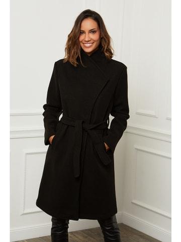 Le Comptoir du Manteau Płaszcz przejściowy w kolorze czarnym