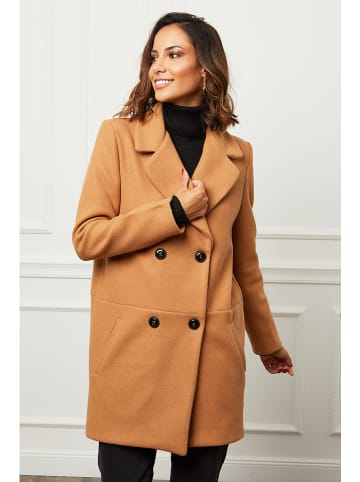 Le Comptoir du Manteau Płaszcz przejściowy w kolorze karmelowym