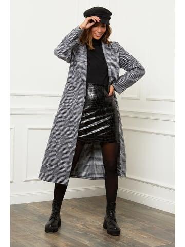 Le Comptoir du Manteau Mantel in Schwarz/ Weiß