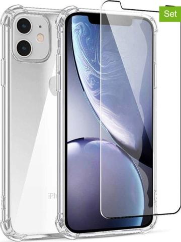 Evetane 2tlg. Set: Case und Schutzfolie für iPhone 11 in Transparent