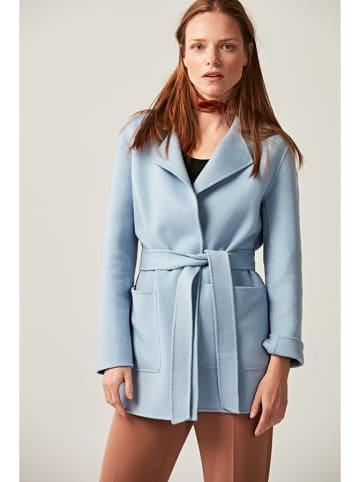 PATRIZIA ARYTON Wełniany płaszcz w kolorze błękitnym