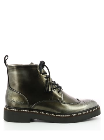 """Kickers Leder-Boots """"Oxany High"""" in Silber"""