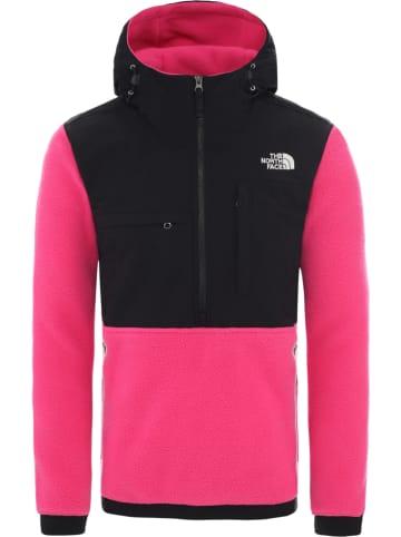The North Face Bluza polarowa w kolorze czarno-różowym