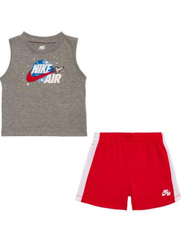 """Nike 2-częściowy zestaw """"Air Muscle"""" w kolorze szaro-czerwonym"""