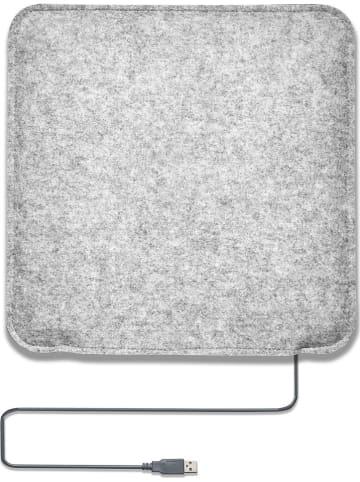 Gartenfreude Verwarmd zitkussen grijs - (L)35 x (B)35 cm