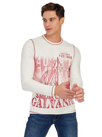 Galvanni Koszulka w kolorze kremowym ze wzorem