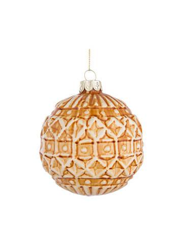 Bizzotto Bombka (4 szt.) w kolorze pomarańczowym - Ø 8 cm