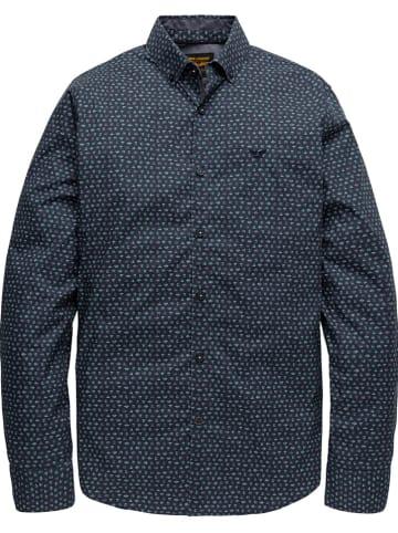 PME Legend Blouse - regular fit - donkerblauw/meerkleurig