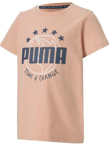 """Puma Koszulka """"T4C"""" w kolorze łososiowym"""