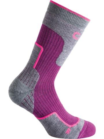 CMP Skarpety trekkingowe w kolorze różowo-szarym