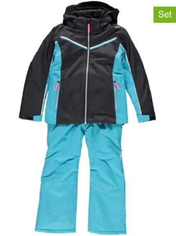 CMP 2tlg. Ski-/ Snowboardoutfit in Türkis/ Schwarz