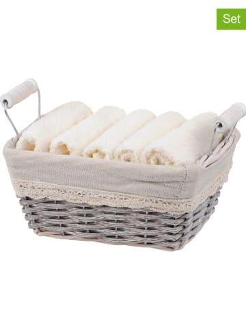 """STOF France Ręczniki (6 szt.) """"Julie"""" w kolorze jasnobrązowo-białym"""