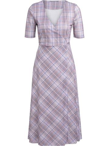 Oui Kleid in Weiß/ Hellblau