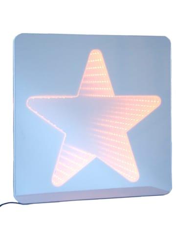 """Little nice things Lustro LED """"Star"""" w kolorze błękitno-jasnoróżowym - 35 x 45 cm"""