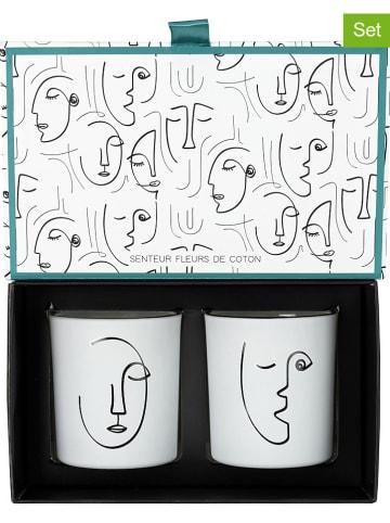 """Rétro Chic Świece zapachowe (2 szt.) """"Arty"""" w kolorze białym - wys.8 x Ø 7 cm"""