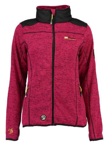 "ANAPURNA Fleece vest ""Typo"" roze/zwart"