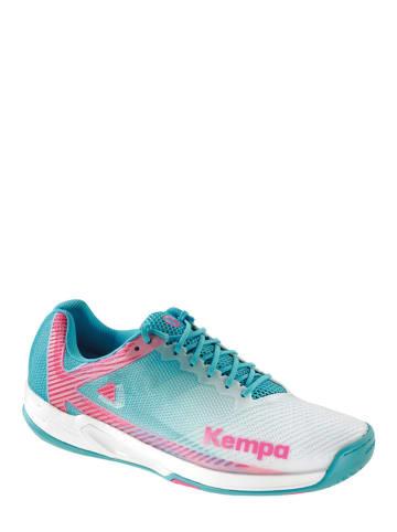 "Kempa Sportschuhe ""Wing 2.0"" in Türkis/ Weiß/ Pink"
