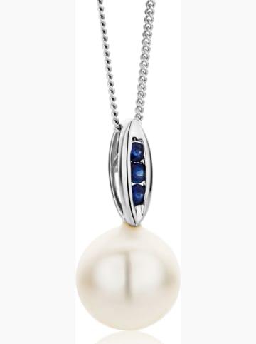 Diamant Exquis Witgouden ketting met hanger - (L)45 cm