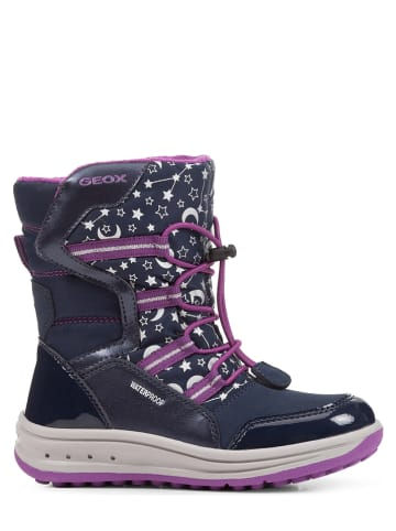 """Geox Winterboots Roby"""" in Lila/ Blau"""