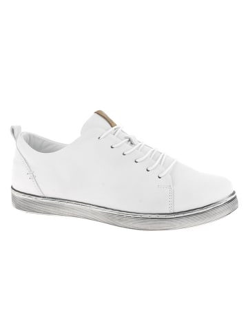 Andrea Conti Skórzane sneakersy w kolorze białym