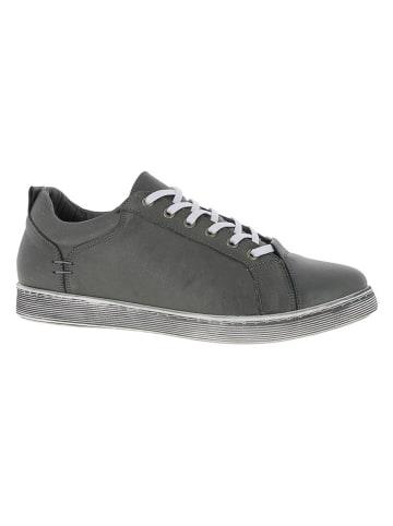 Andrea Conti Skórzane sneakersy w kolorze czarnym