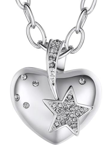 Lilly & Chloe Verzilverde ketting met Swarovski-kristallen - (L)42 cm