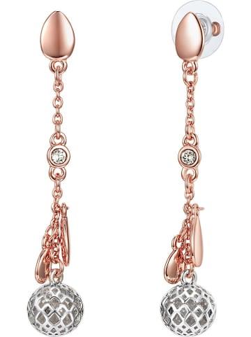 Lilly & Chloe Rosévergulde oorstekers met Swarovski-kristallen
