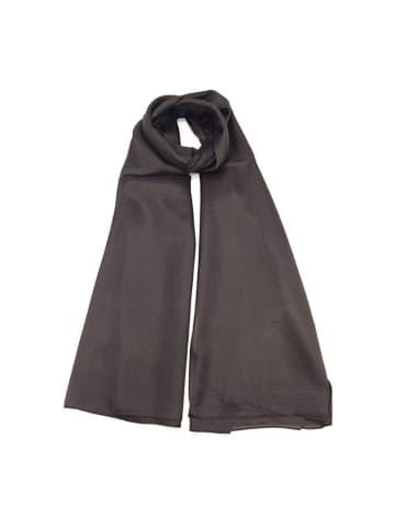 Made in Silk Jedwabny szal w kolorze czarnym - (D)180 x (S)90 cm