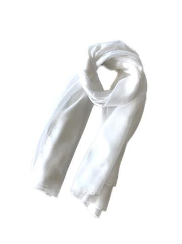 Made in Silk Jedwabny szal w kolorze białym - (D)180 x (S)90 cm