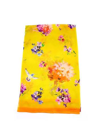 Made in Silk Zijden sjaal geel/meerkleurig - (L)180 x (B)90 cm